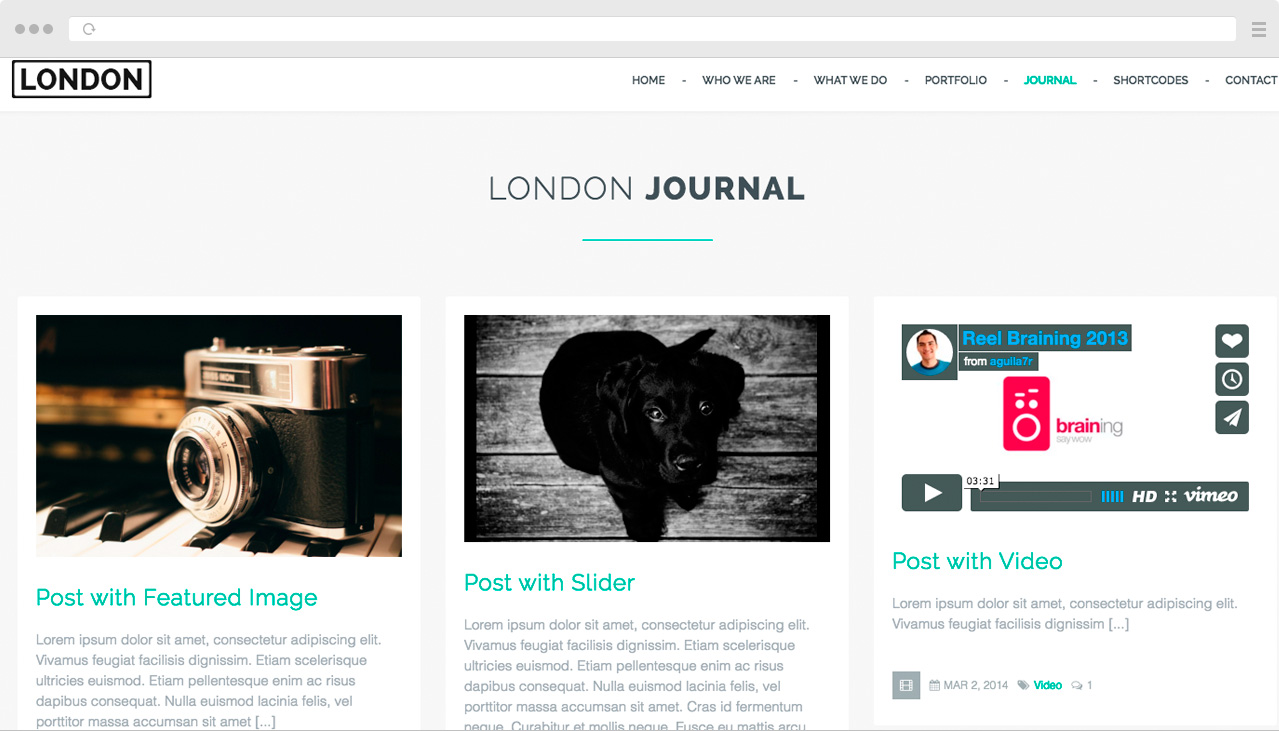London - Many faces HTML Template - 3